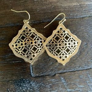 Kendra Scott Kirsten Gold Drop Filigree Earrings